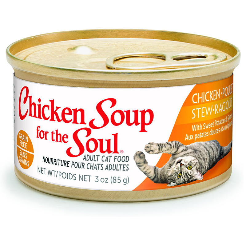 Chicken Soup Chicken Stew, Sweet Potato  & Spinach Cat Food 3 oz. Can I010294