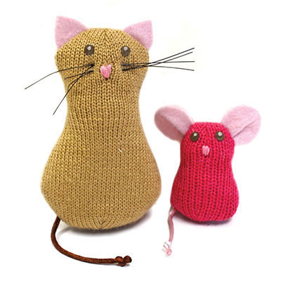 Petlinks® Knit Nipper™ Cat & Mouse Refillable Catnip Toys I010385