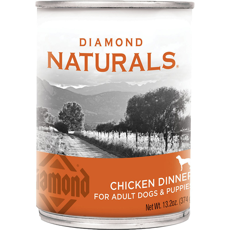 Diamond Naturals Chicken Dinner for Adult Dogs & Pupplies 13.2 oz. I010717