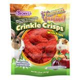 FM Brown's Tropical Carnival Crinkle Crisps® With Fruit Gluten Free Small Animal Treat 1.5 oz. Bag I010753