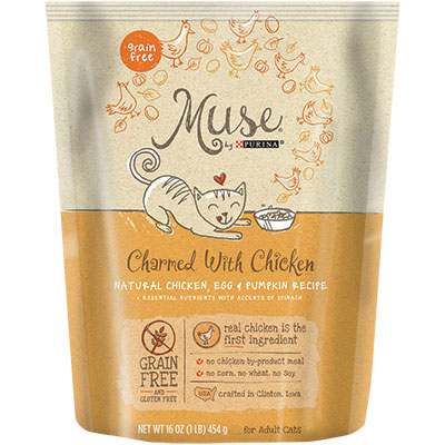 Muse® by Purina® Charmed with Chicken, Egg & Pumpkin Recipe Cat Food  I010760b