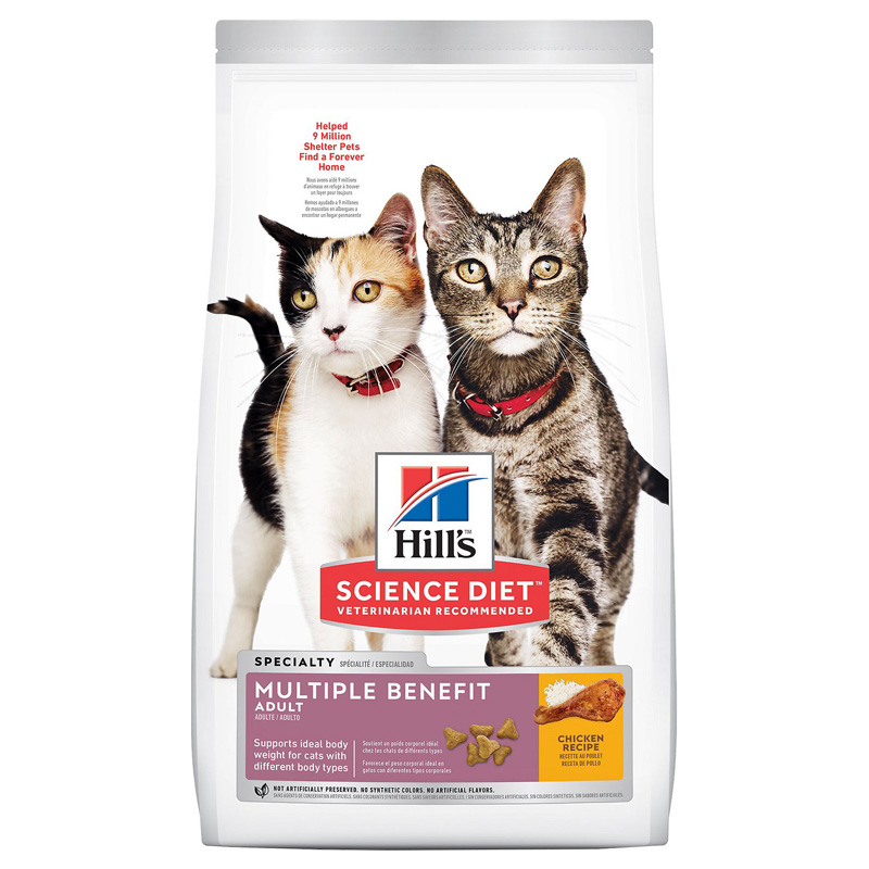 Hill's Science Diet Adult Multiple Benefit Dry Cat Food  I010858b