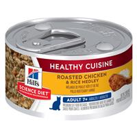 Hill's Science Diet Adult 7+ Healthy Cuisine Roasted Chicken & Rice Medley 2.8 oz. I010867