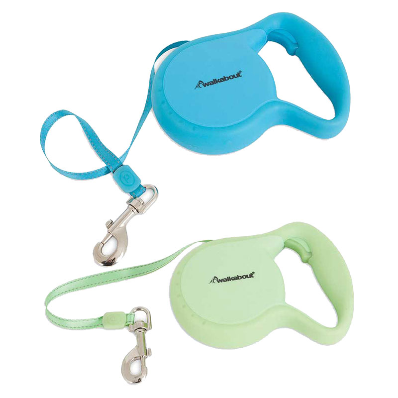 Petmate® Walkabout® Glow in the Dark Green Retractable Leash I010993b