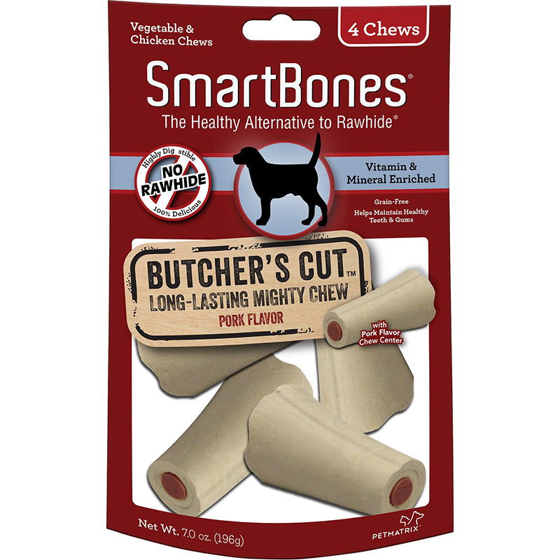Smartbones Butcher's Cut Long Lasting Mighty Chew Small 4 pack I011101