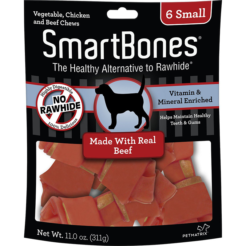 Smartbones Vegtable and Chicken Small Chews for Dogs Beef  I011108b