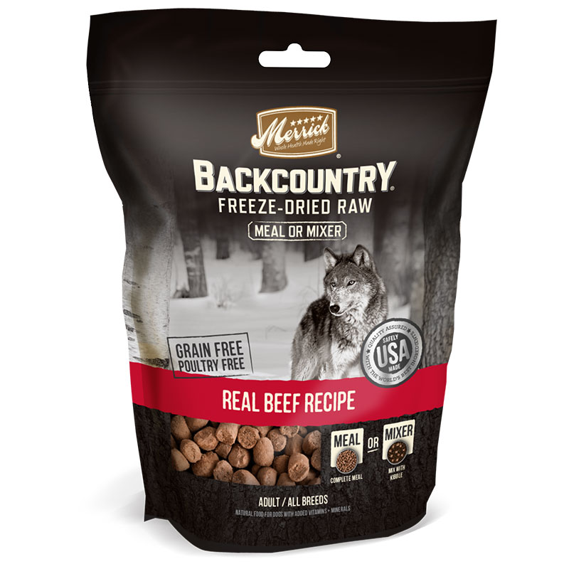 Merrick® Backcountry™ Freeze-Dried Raw Beef Recipe Meal Mixer I011136b