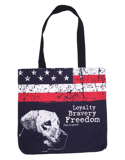 Dog is Good Freedom Dog Tote 16in X 16in I011190