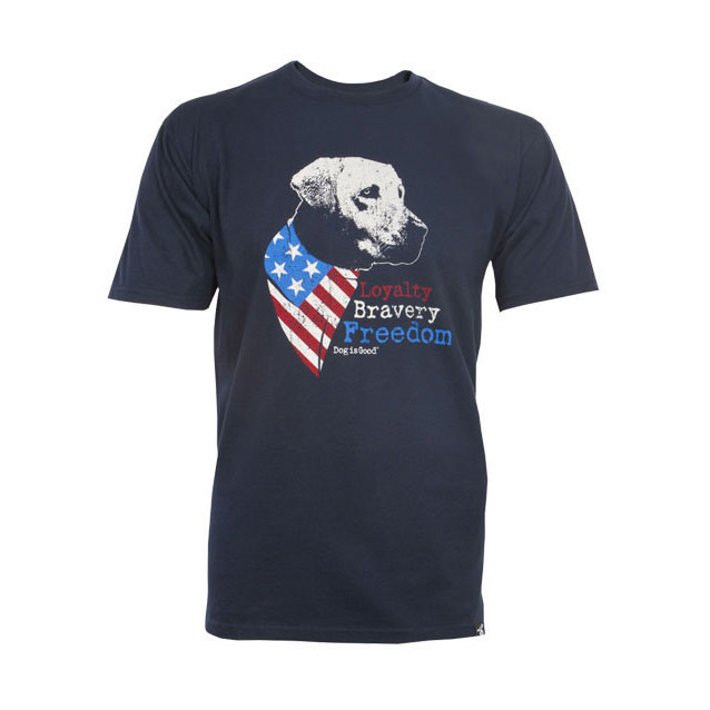 Dog is Good® Unisex Loyalty Bravery Freedom T-Shirt I011191b