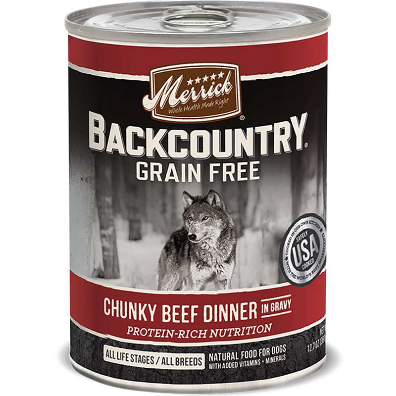 Merrick Backcountry Chunky Beef Dinner in Gravy 12.7oz I011244
