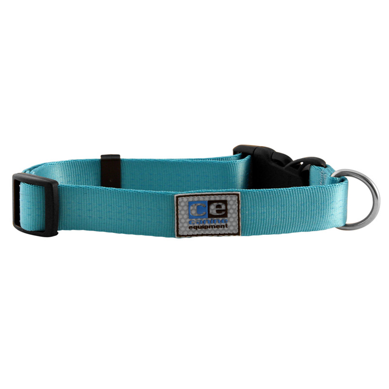 Canine Equipment Adjustable  Clip Collars Aqua I011278b