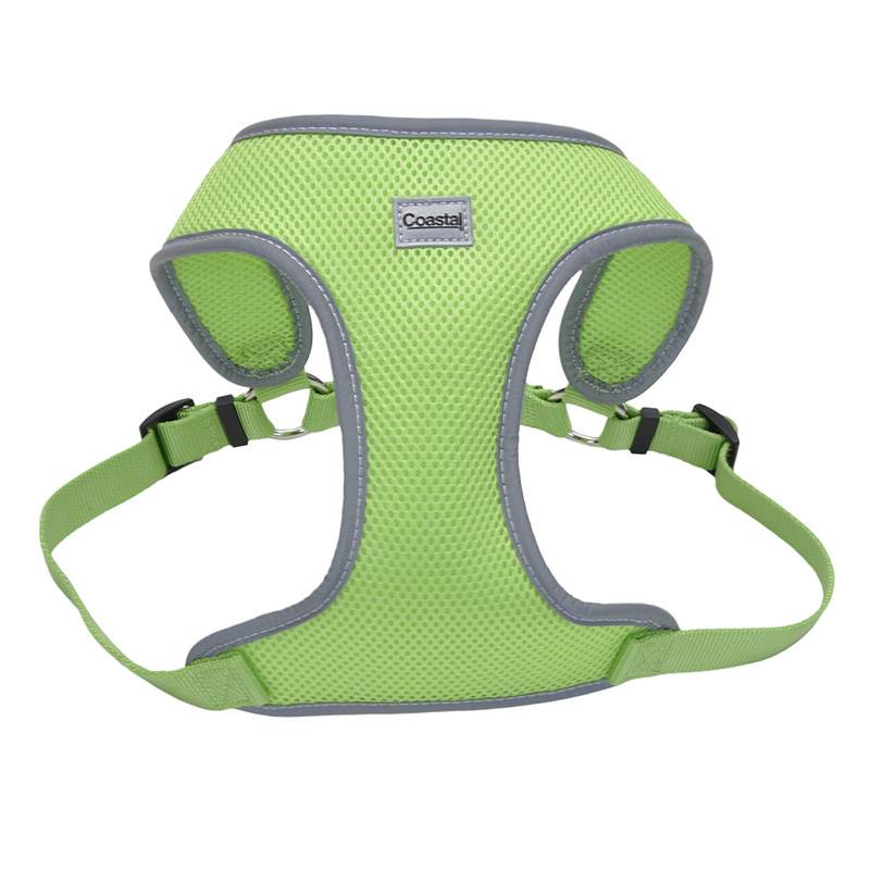 Coastal Comfort Soft Reflective Wrap Adjustable Dog Harness Lime I011411b