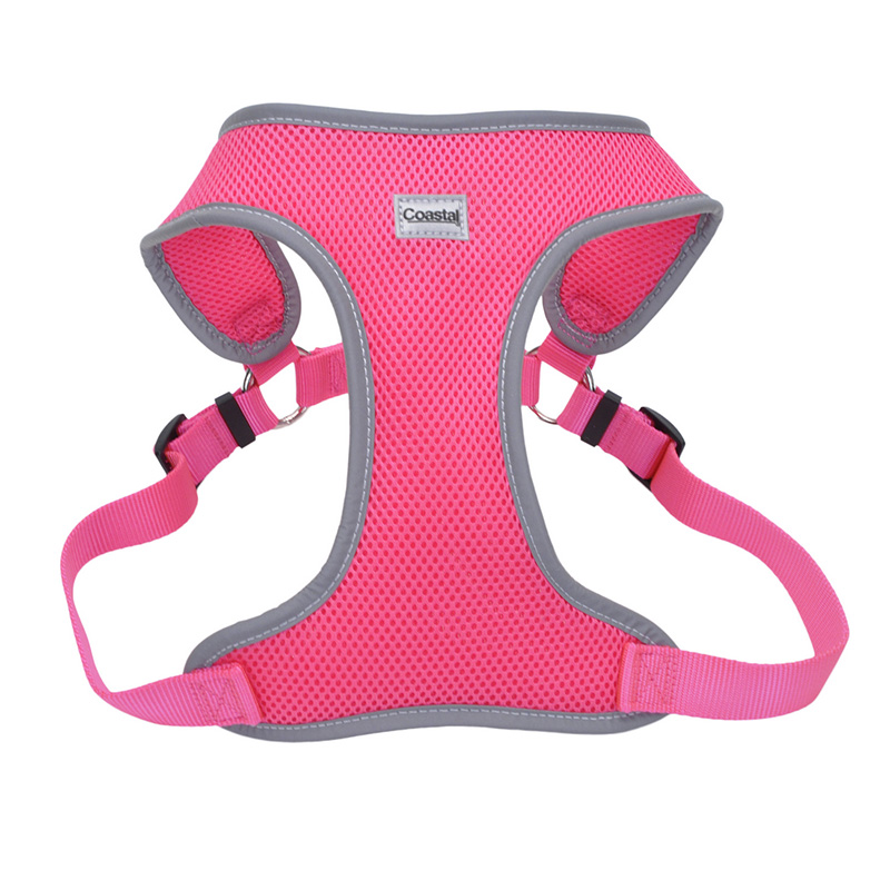 Coastal Comfort Soft Reflective Wrap Adjustable Dog Harness Neon Pink I011412b