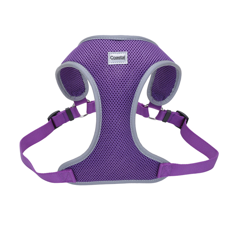 Coastal Comfort Soft Reflective Wrap Adjustable Dog Harness Purple I011418b