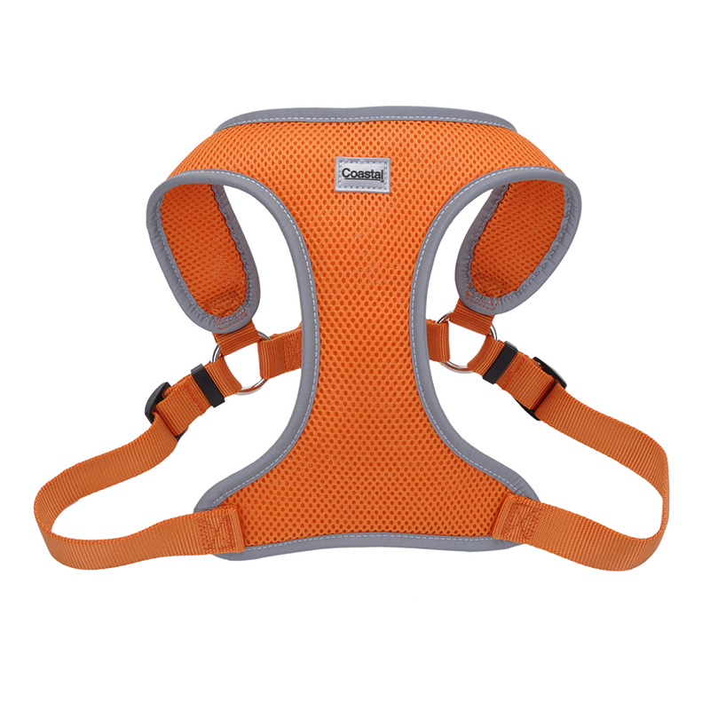 Coastal Comfort Soft Reflective Wrap Adjustable Dog Harness Sunset Orange  I011414b