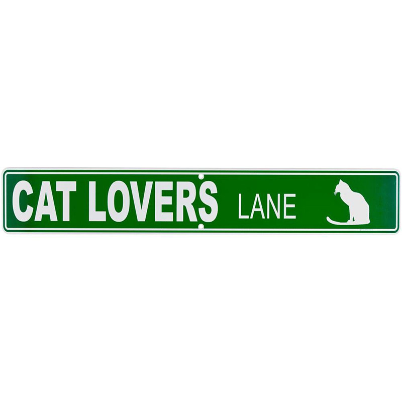 Cat Lovers Lane Street Sign  I011479