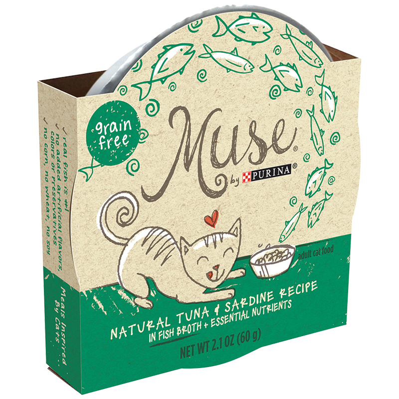 Purina® Muse Natural Tuna & Sardine Recipe in Fish Broth 2.1 oz. I011495
