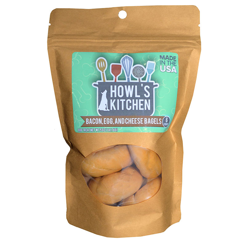 SCOTT PET Howl's Kitchen Bacon, Egg and Chees Bagels 6 Count I011524
