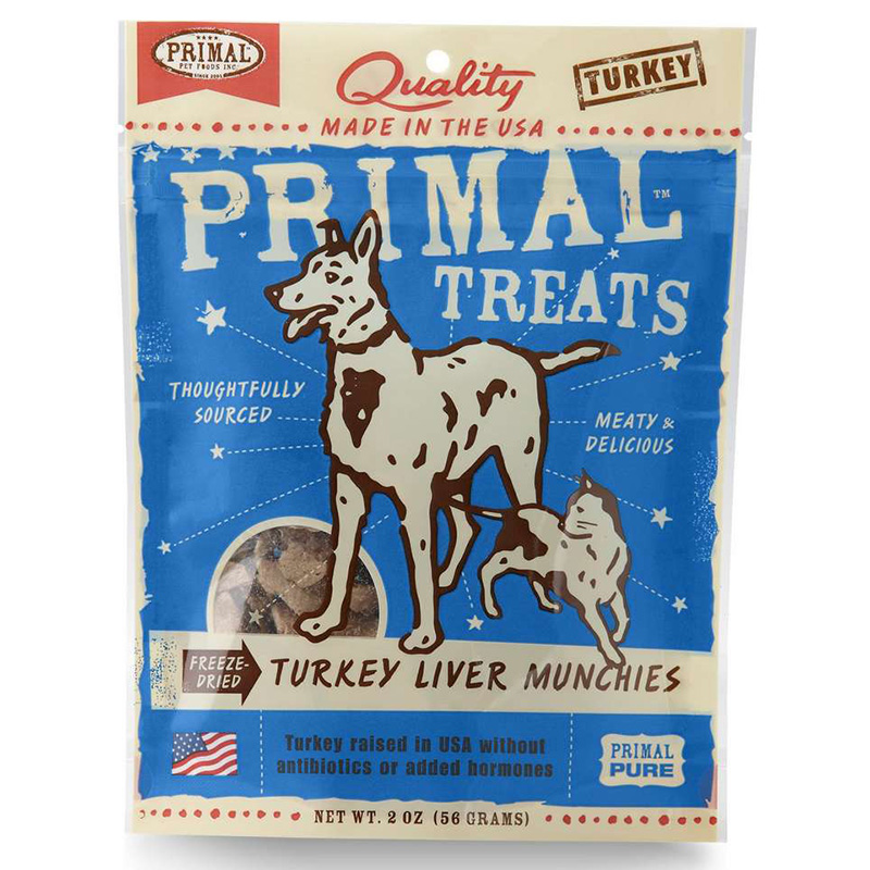 Primal Freeze Dried Turkey Liver Dog Treat 2oz I011567