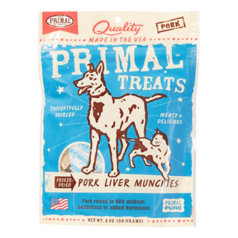 Primal Freeze Dried Pork Liver Treat 2oz I011569