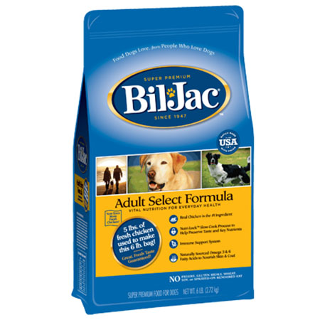 Bil-Jac Adult Select Dog Food Formula 6 lbs. I011589
