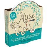 Purina® Muse® Natural Chicken & Ocean Fish Recipe in Broth with a Bonito Topper 2.1 oz. I011593