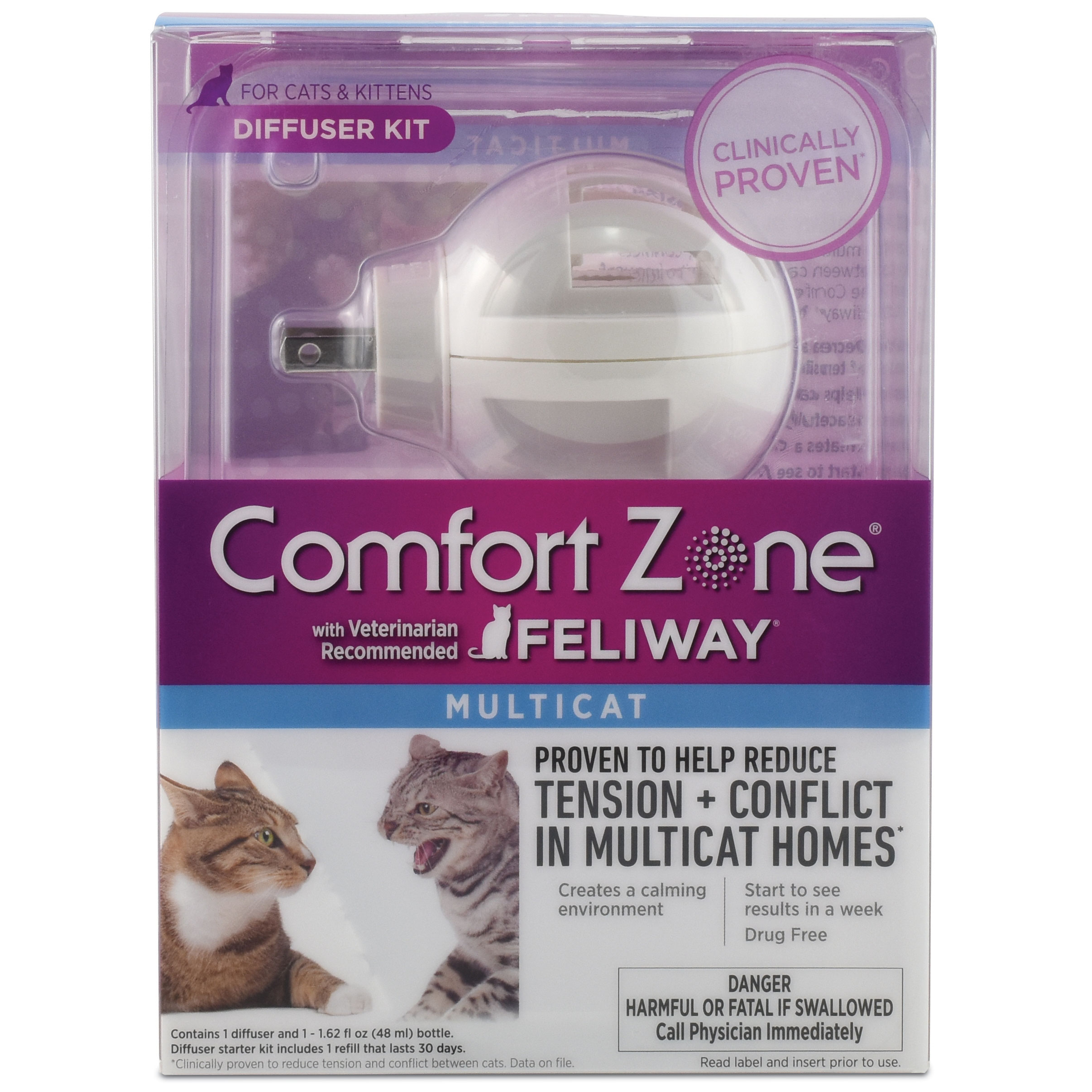 Comfort Zone® Multicat Diffuser with Feliway®Kit I011723