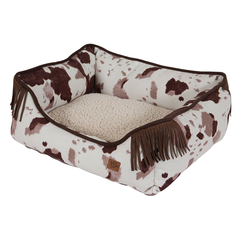 Mutt Nation 20x17 Brown Bed Cowprint Pattern I011742