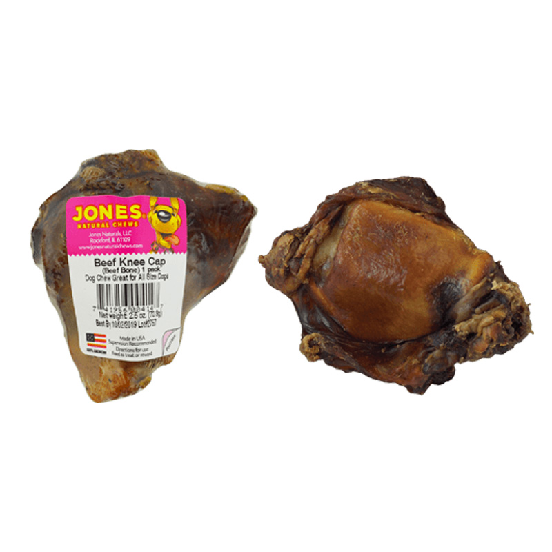 Jones Natural Chews Beef Knee Cap Bone 3 in I011810