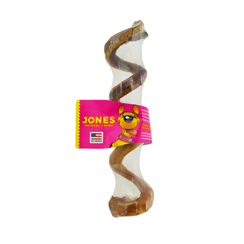 Jones Natural Chews Curly Q Beef Pizzle 6-8 in I011822