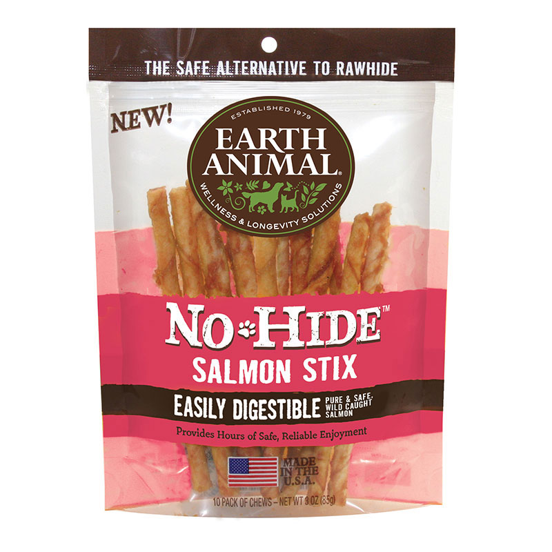Earth Animal® No-Hide™ Salmon Stix 10 pack I011836