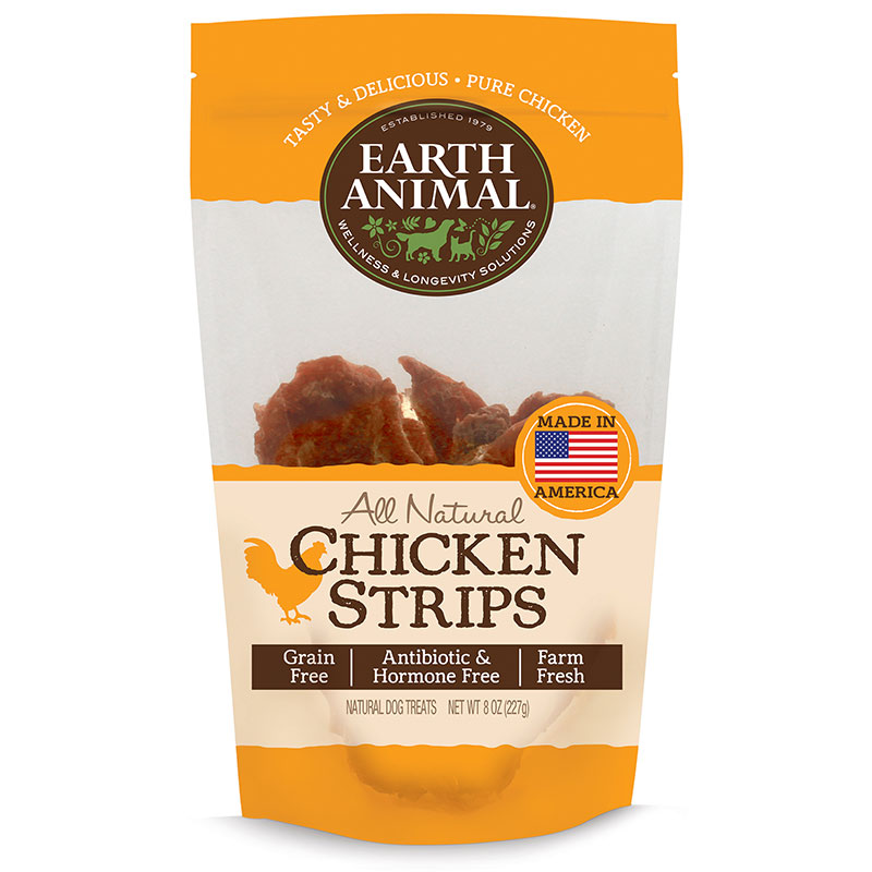 Earth Animal® All Natural Chicken Strips 8 oz. I011837