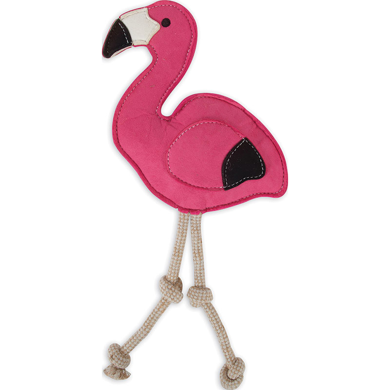 Petmate® Mutt Nation™ Flamingo Faux Suede Dog Toy I011995