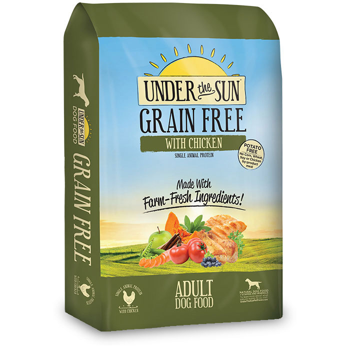 Under the Sun® Grain Free Adult Dog Food With Chicken I012039b