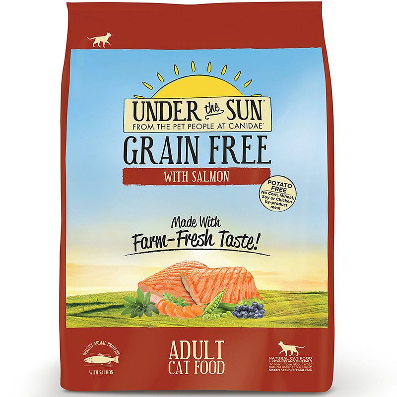 Under The Sun® Grain Free Adult Cat Food With Salmon I012045b
