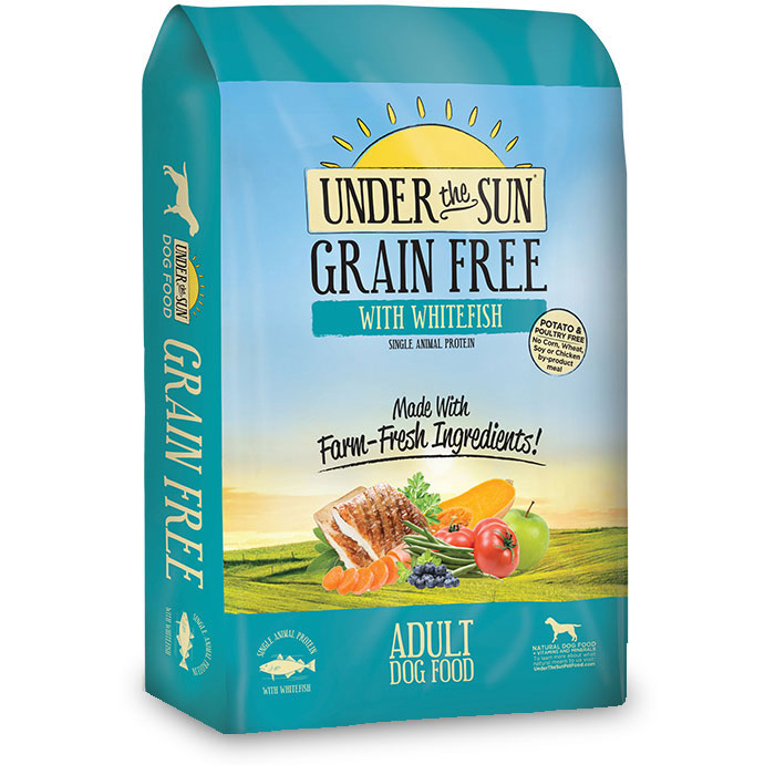 Under The Sun® Grain Free Adult Dog Food With Whitefish 23.5 lbs. I012051