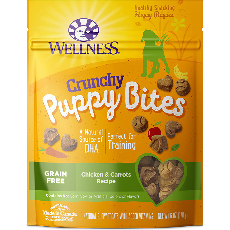Wellness Crunchy Puppy Bites Chicken & Carrots Recipe 6 oz. I012064