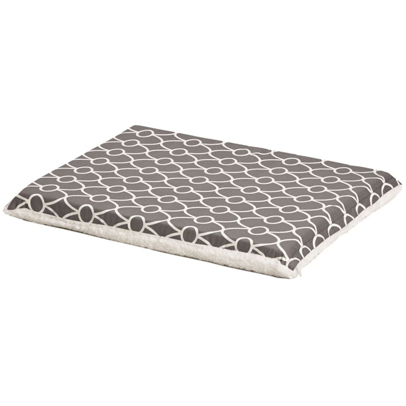Quiet Time Defender Gray Geo Print/Fleece Reversible Crate Pad I012109b
