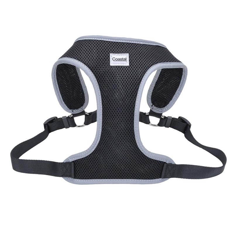 Coastal Comfort Soft Reflective Wrap Adjustable Dog Harness Black  I012433b
