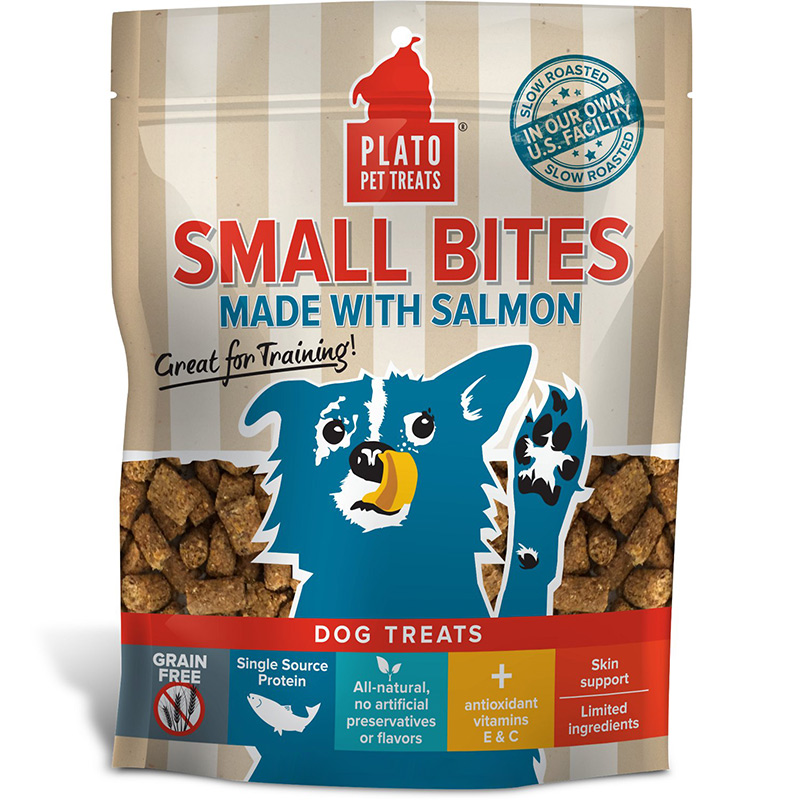 Plato Small Bites Salmon Dog Treats I012499b