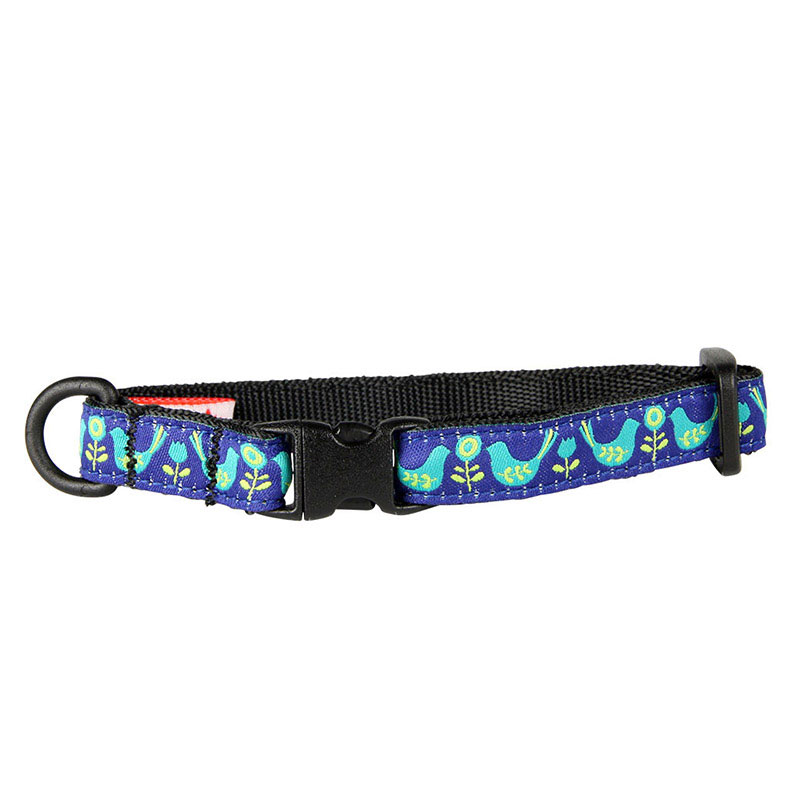 "Breakaway Cat Collar Teal Bird Kitty 1/2""x8-10"" I012724"