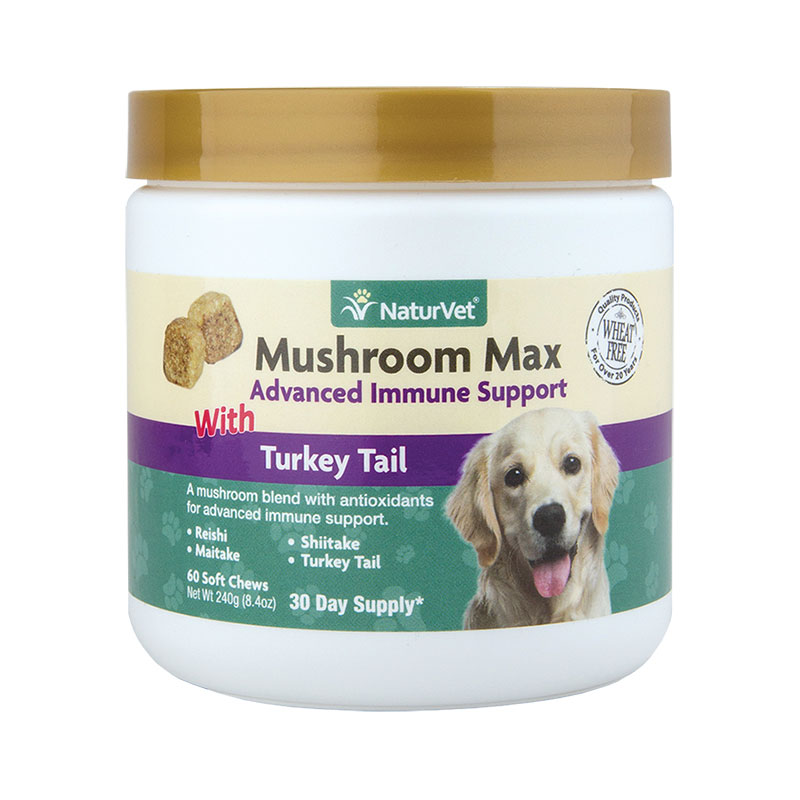 NaturVet Mushroom Max 60ct Advance Immune Support I012923