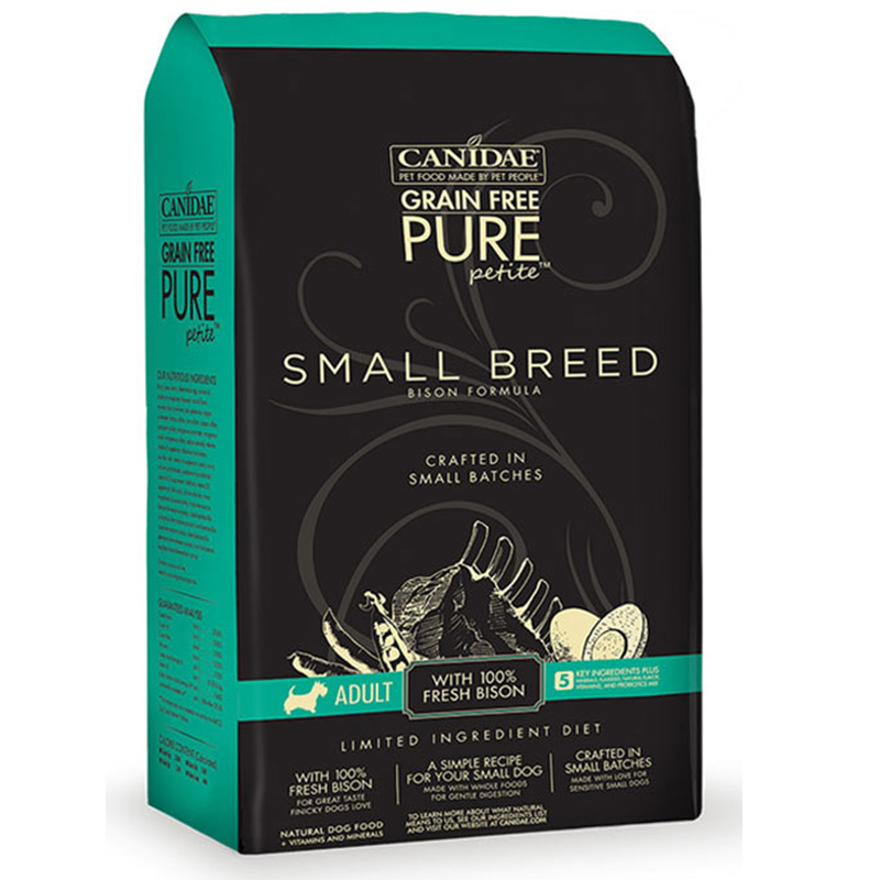 Canidae Grain Free Pure Petite Small Breed Bison Dog Food I012961b