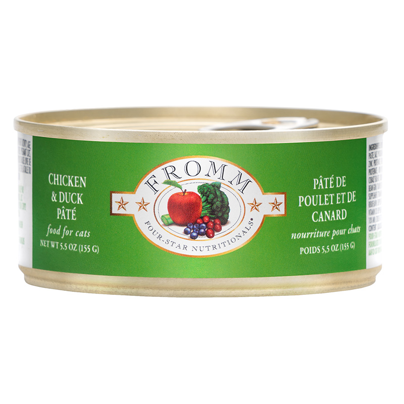 Fromm 4 Star Dinner Chicken and Duck Wet Cat Food 5.5oz.