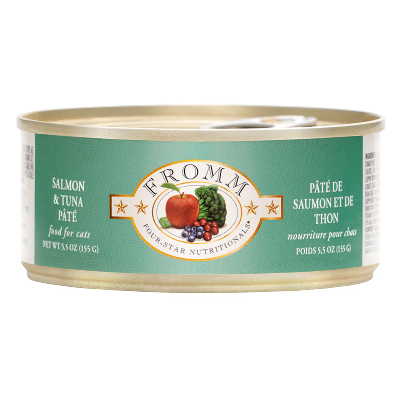 Fromm 4 Star Dinner Salmon and Tuna Wet Cat Food 5.5oz.