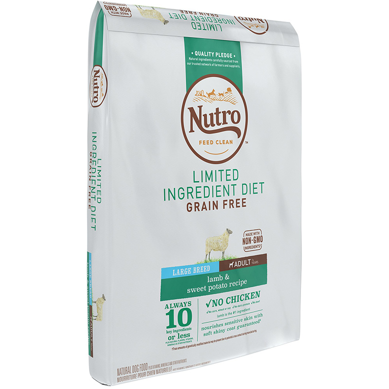 Nutro Limited Ingredient Diet Large Breed Lamb & Sweet Potato Recipe I013233b