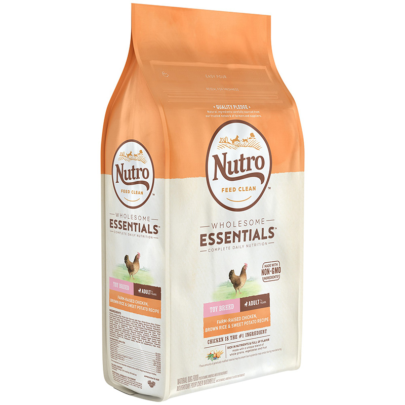 NUTRO WHOLESOME ESSENTIALS Toy Breed Adult Farm-Raised Chicken, Brown Rice & Sweet Potato Recipe 5 lbs. I013241