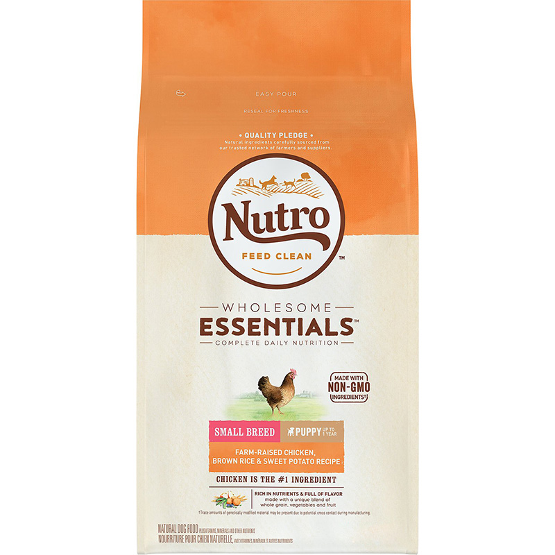 Nutro Wholesome Essentials Small Breed Puppy with Farm-Raised Chicken, Brown Rice & Sweet Potato Recipe 5 lbs.  I013243