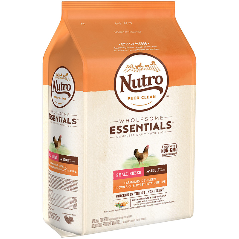 Nutro Wholesome Essentials Small Breed Adult Farm-Raised Chicken, Brown Rice & Sweet Potato 5 lbs. I013244