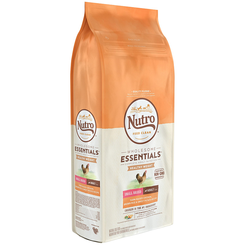 Nutro Wholesome Essentials Healthy Weight Small Breed Adult with Farm-Raised Chicken, Brown Rice & Sweet Potato 5 lbs. I013245